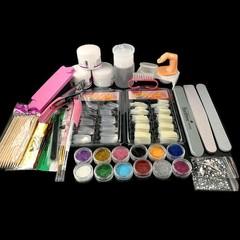 Art Tool Kit Professional Manicure Acrylic Powder Buffer Sandpaper Brush Finger Separator Nails C