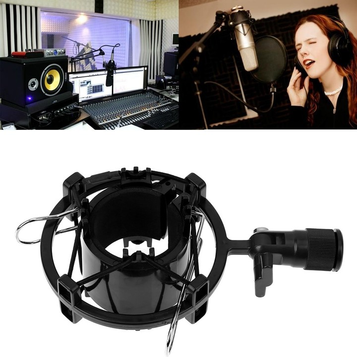 Mic Microphone Shock Mount Clip Holder Stand for 43-55mm Large Diaphragm microphone Recording Br