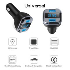 GPS Tracker Locator Dual USB Car Charger Real Time Tracking Device Detector Voltmeter Mini GPS Mo