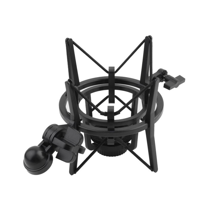 Quality 1 Set Microphone Shock Mount Stand Holder with Integrated Pop Filter Black Kit Newest Fre