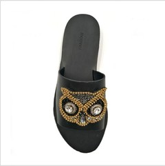 1 pcs Rhinestone owl beaded Embroidery Fabric Applique Patch African Sew Dress Cloth bag shoes De