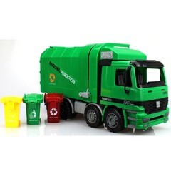 ABS Car Models Vehicle Toys for Children 1:22 gld3 Automatic lifting Clean Car Garbage Truck Toy
