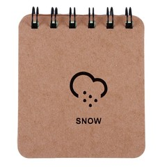 Notebook Memo Records Weather Forecast Series Daily Coil Spiral Book Lightning Moon Rain Snow Gif