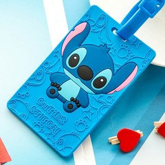 Travel accessories PVC Suitcase Luggage Tag Cartoon ID Address Holder Baggage Label Silica Ge Ide