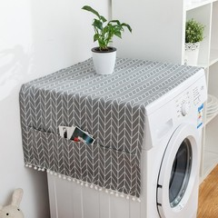 Washing Machine Cover With Pockets Washer Lid Household Floral Accessories For Kitchen Washable R