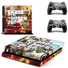 Theft Auto V GTA 5 PS4 Skin Sticker Decal for Sony PlayStation 4 Console and 2 Controller Skin PS