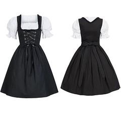 Costumes Oktoberfest Beer Girl Costume Maid Wench Germany Bavarian Short Sleeve Fancy Dress Dirnd