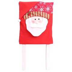 Brand Christmas Chair Cover Santa Claus Snowman Decorations for Home Chair Back Cover
