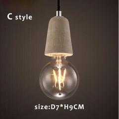 Brief Loft Nordic Cement Pendant Lights Dining Room Lights E27 110V 220V  Hanging Lamp Restaurant