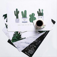 Waterproof Cactus Flamingo Desk Mat Table Coaster Placement for Mug Cup Office Home Decoration De