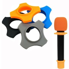 microphone soft silicone stand skidproof circle mic anti-slip non-skid ring KTV replacement drop