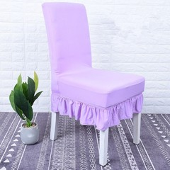 Color Skirt Style Cover Removable Chair Cover Elastic Covers Seat Case Wedding Restaurant Hotel O