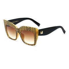 Gold Sunglasses Spectacles Frame for Ladies Fashion Women Transparent Square Glasses Frame Optica