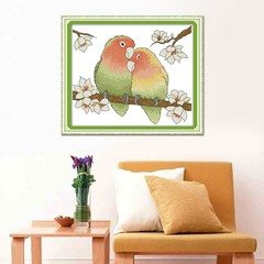 Sunday DA162 14CT 11CT Counted and Stamped Home Decor A Pair Of Loving Parrots Needlepoint Embroi