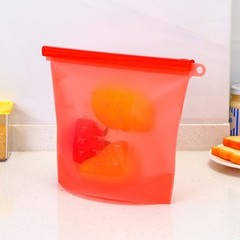 Refrigerator Fresh Bags Kitchen Food Sealing Storage Bags Home Food Grade Silicone Fruit Meat Zip
