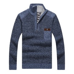 Autumn Warm 2018 Knitted Clothing Thick Casual Sweater Pullover Men Gray M