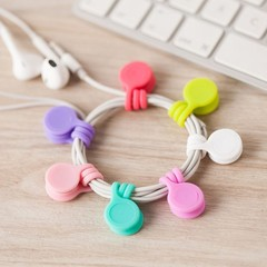 Magnet Earphone Cable Holder Clips Korean Kawaii Stationary Cord Winder Office Desk Organizer Acc