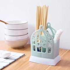 kitchen chopsticks tube Tableware storage Rack Birdcage Style household drain chopsticks holder c