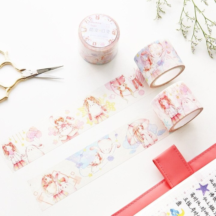 Korean stationery wholesale and paper tape Meng pet daily small fresh and lovely hand account wid