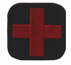 medical treatment Military patch red cross morale US army  tactical patches molle hook and loop f
