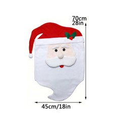 Claus Mrs. Claus Cap Chair Covers Christmas Dinner Table Decoration for Home Chair Back Cover Dec