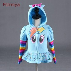 girl autumn clothes little girls hooded coat kids pony jacket my children tiny cottons 2018 coat blue 3T