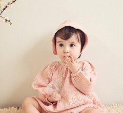 Rompers Baby Boy Clothes Cotton Linen Jumpsuits Bebe Fashion Casual Rompers 2019 Baby Girl Clothe pink as picture