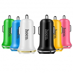 HOCO Z1 2.1A Dual USB Car Charger + Micro USB Cable for Phone  Black