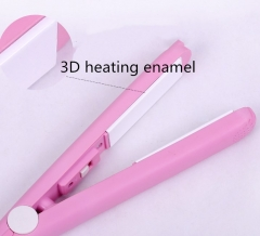 3 IN1 Multifunctional Ceramic Electric Rotating Comb Straightener Iron Hair Dryers pink one size