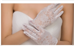 Fashion White Lace Short Wedding Bridal Gloves 2018 Wedding Accessories normal white