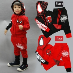 Boys Clothing Sets Long sleeve Spider Man Hoodies Baby kids  Cartoon suits 2 pcs clothing sets red 100cm
