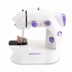 Mini Sewing Machines Handheld Dual Speed Double Thread Multifunction Electric Mini Automatic Rewind white+purple