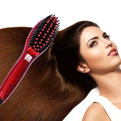 Fast Hot Durable Electric Comb Ceramic Straightener Women Anti-static Comfortable black normal