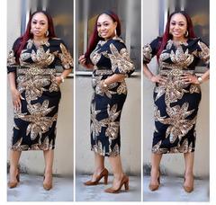 2019 Women  Flowral Print Dresses Office Ladies Work Dress Slim OL Waist Suit For Work l red