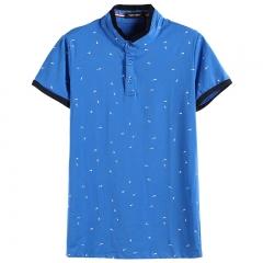 GustOmerD New Guitar Printed Tops Male T-shirt Man's Casual Cotton Short Sleeve Tee Fashion T-shirts royal blue size m 50 to 58kg cotton & polyester