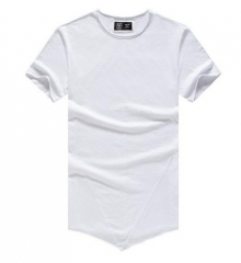 GustOmerD Fashion Solid Color O-neck T-shirt Man's 100% Cotton Short Sleeve Male Casual T-shirts white size s 50 to 55kg