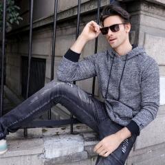 GustOmerD 2018 New Hoodies Men High Quality Cotton Mens Sweatshirt Casual Style Basic Hoody Men black size L 65 to 72kg