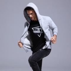 GustOmerD 2018 New Mens Hoodies Fashion Sweatshirt Men Casual Style Hoody Cotton Men's Sportswear grey size s 50 to 58 kg