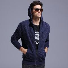 GustOmerD 2018 New Cotton Hoodies Men Zipper Dot Sweatshirts Men Casual Male Hoodied Jacket Men navy size S 45 to 50kg