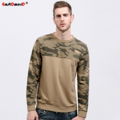 GustOmerD Men Hoodies Casual Cotton Warm 100% Cotton Thicken Fleece Male Pullover Tracksuit as picture asian m 50 to 60kg