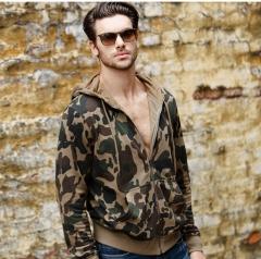 GustOmerD Men's Hoodie Sweatshirt Camouflage Hoodies Cotton Warm Thick Sweatshirt Fashion Hoody as picture size s 50 to 55 kg