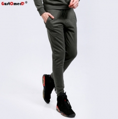 GustOmerD New Cotton Sweatpants Men Casual Sporting Mens Joggers High Quality Pants Men army green Size S 45 to 52 kg