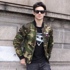 GustOmerD 2018 New Camouflage Military Jacket Men Army Bomber Jacket Men Fashion Male Jackets Coats black size M 50 to 58kg
