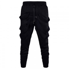 New Pattern Fashion Menswear Men's Haren Pants Sarrouel Cross Pants Leisure Sports Pants black m