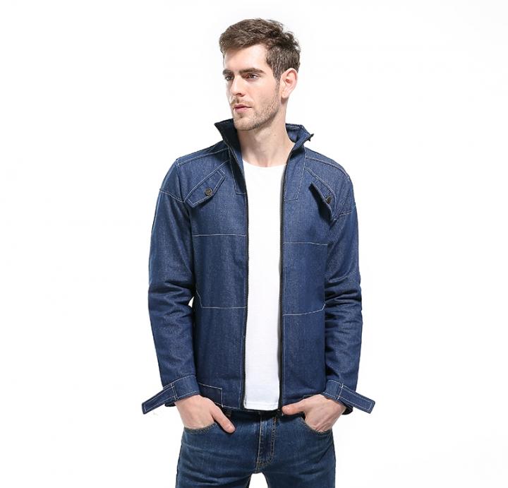 Gustomerd New Men Denim Jacket Fashion Men Jackets Coat Male Jeans