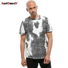 GustOmerD New Fashion Letter Printed Tshirt Men Short Sleeve Mens Top Tee O-neck Casual T-shirts black size s 50 to 58kg