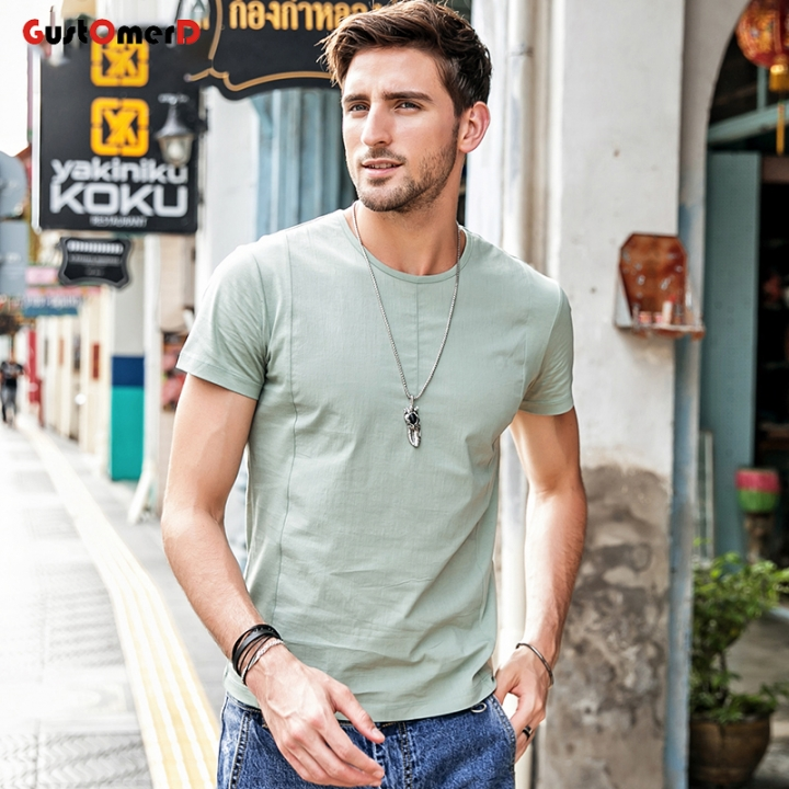 e588bab9cddf GustOmerD Fashion Men s Casual Patchwork Short Sleeve Clothing Trend Casual  Slim Fit Top Tees white size