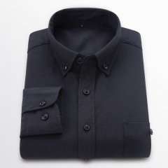 GustOmerD New Men Oxford Shirt Youth Fashion Slim Fit Shirt Brand Clothing Mens Business Shirt Male black size 5xl 90 to 98kg