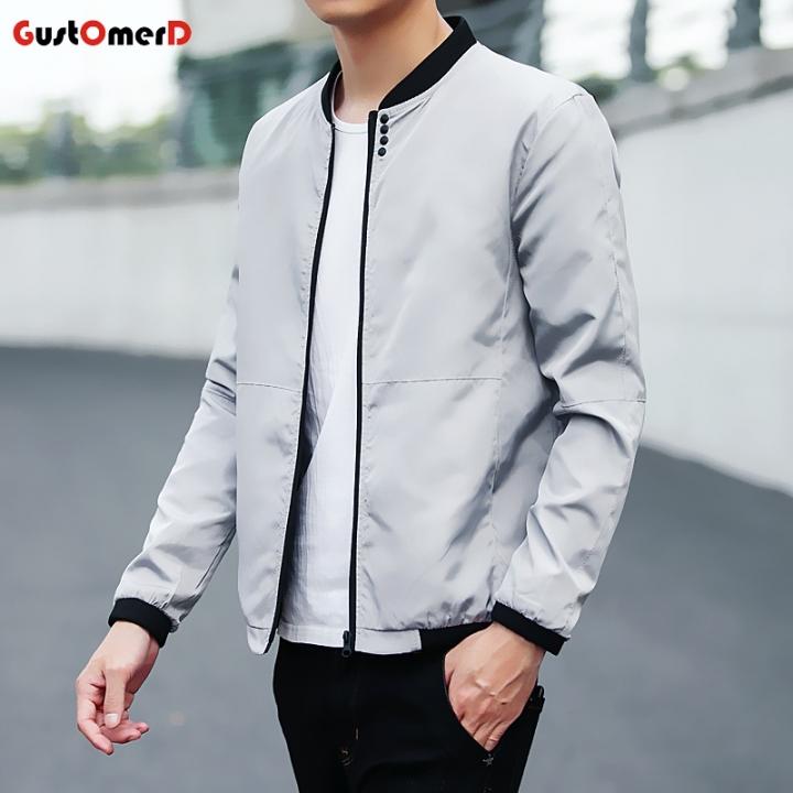 2018 New Fashion New Mens Sunscreen Coat Casual Mens Sunscreen Jacket Coat gray size xl 65 to 72kg