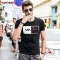 GustOmerD Brand T Shirt Balance Design Printed Summer Casual High Quality Hipster tee shirts Men black size l 58 to 65kg